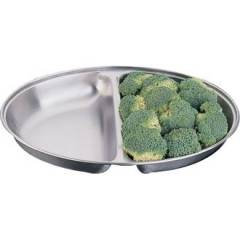 "Oval Vegetable Dish Hire - 20"" Diameter Divided"