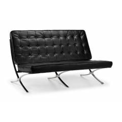 Barcelona Two Seater Sofa - Black