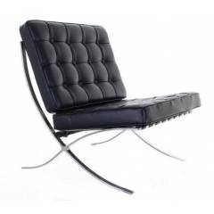 Barcelona Leather Chair - Black