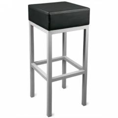 Cube Bar Stool Hire - Black