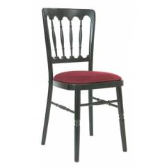 Wooden Banqueting Chair in Black and Red