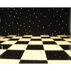 Black and White Dance Floor Hire - 12ft x12ft
