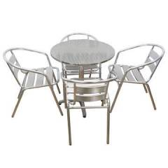 Aluminium Outdoor Chair and Table Combo