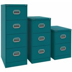 Four Drawer Filing Cabinet - Blue