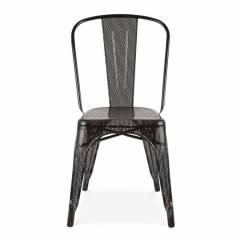 Tolix Grey Mesh Cafe Chair