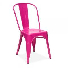 Tolix Hot Pink Cafe Chair