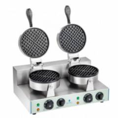 Commercial Double Round Waffle Maker
