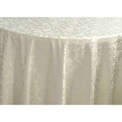 Oblong Banqueting Tablecloth Hire - Ivory Damask