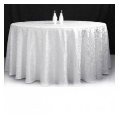 Circular Banqueting Tablecloth Hire - Ivory Damask
