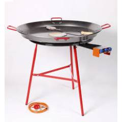 90cm Authentic Paella Pan & 70cm Gas Burner Set