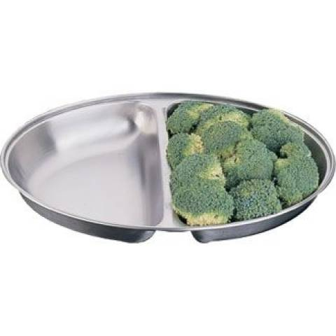 Oval Vegetable Dish - Divided 8