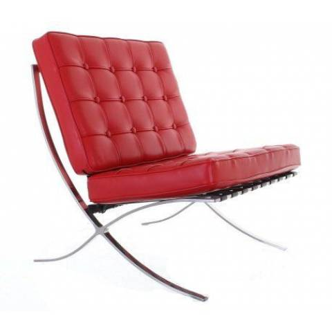 Hire Barcelona Leather Chair Red