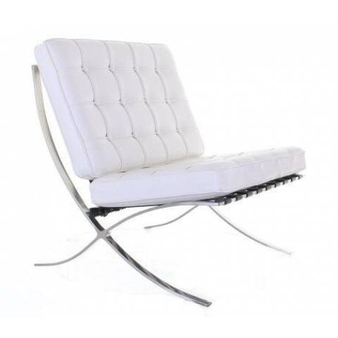 Hire Barcelona Leather Chair White
