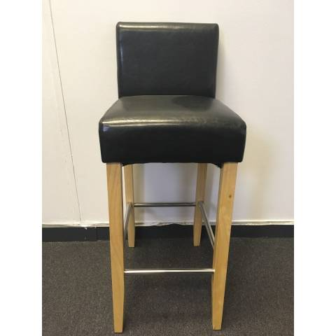 Beechwood Bar Stool - Black