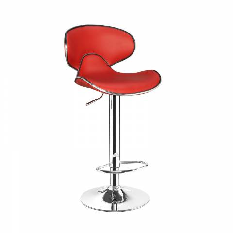 Deluxe Casino Bar Stool - Red