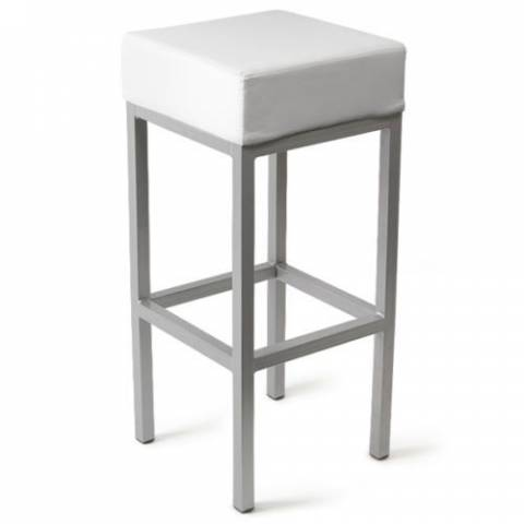 Cube Bar Stool - White