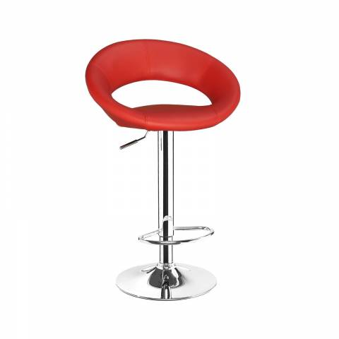 New Moon Bar Stool - Red