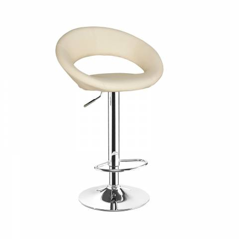 New Moon Bar Stool - White