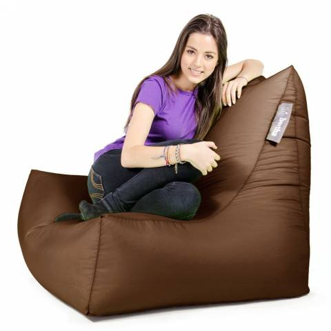Lounger Chair Bean Bag Brown