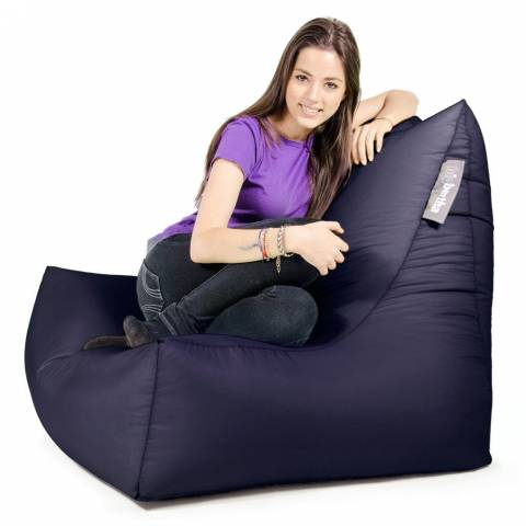 Lounger Chair Bean Bag Navy
