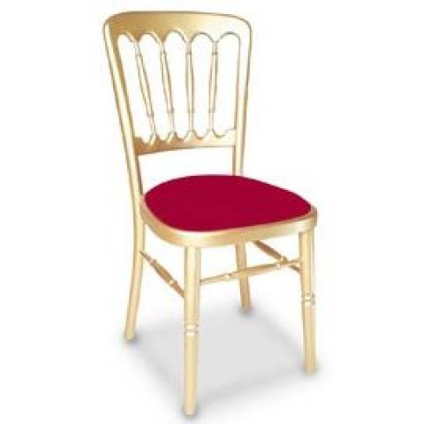 Wooden Banqueting Chair in Gold and Red