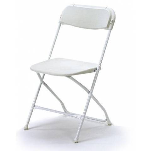 White Folding Samsonite Chairs