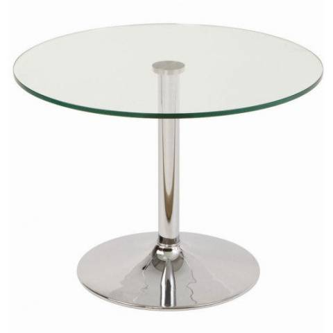 Clear Glass Chrome Table