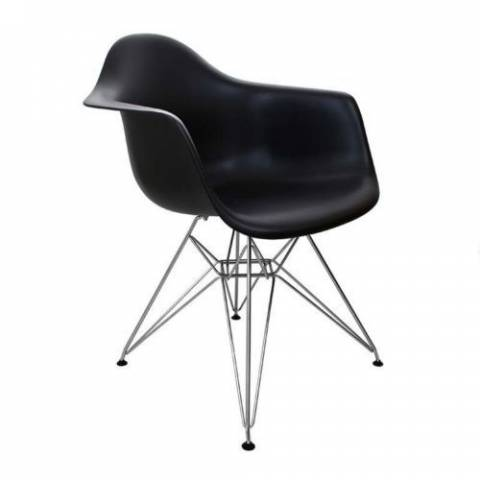 Eames Inspired Eiffel Chair Black
