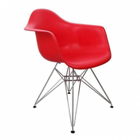 Eames Inspired Eiffel Chair Red