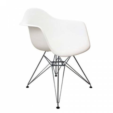 Eames Inspired Eiffel Chair White