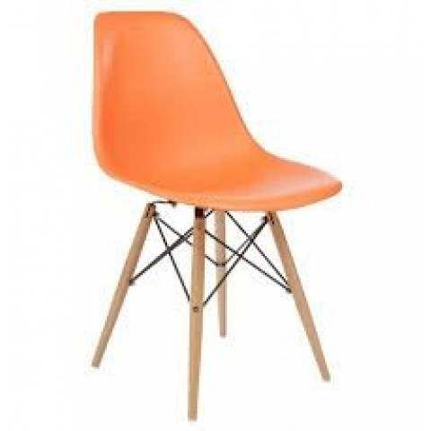 Eames Inspired Chair Orange