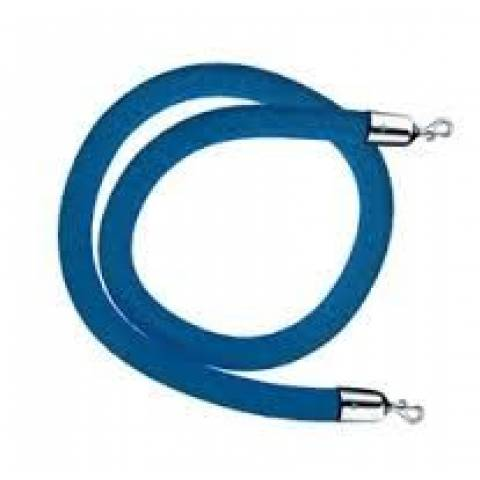 Blue Rope Barrier System - 1.5m - Chrome Ends