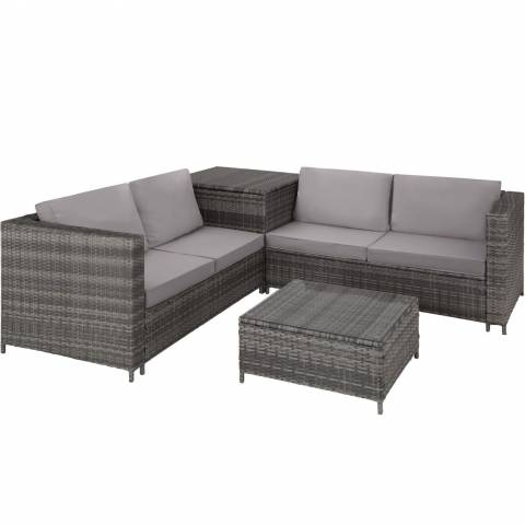 Rattan Four Piece Lounge Set