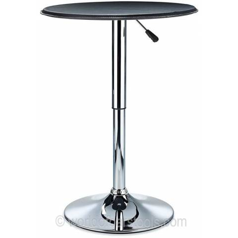 Bonetti Leather Top Poseur Table - Black