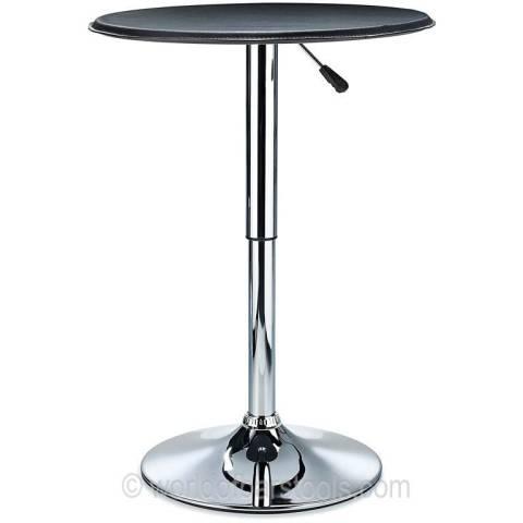 Bonetti Leather Top Poseur Table - Black