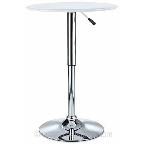 Bonetti Leather Top Poseur Table - White