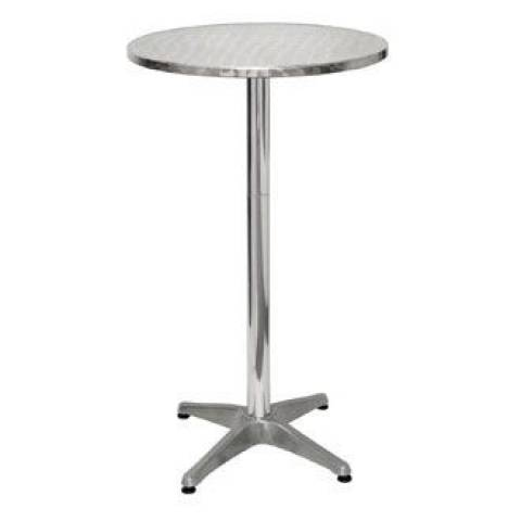 Metallic Silver Poseur Table