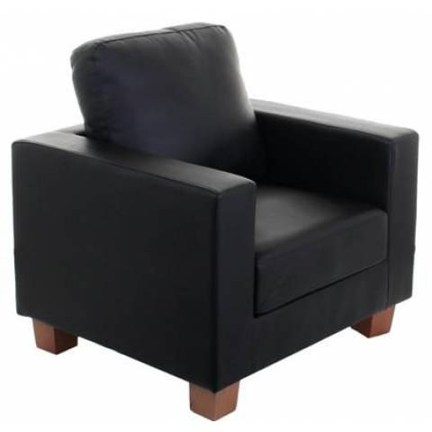 One Seater Sofa - Black