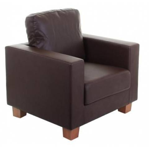 One Seater Sofa - Brown