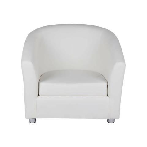 One Seater Sofa - White
