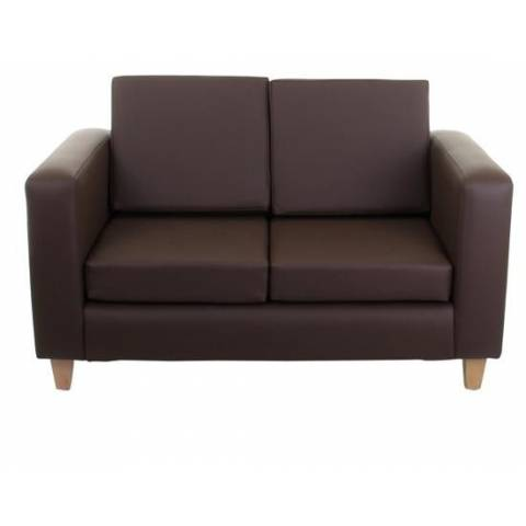 Two Seater Sofa - Brown