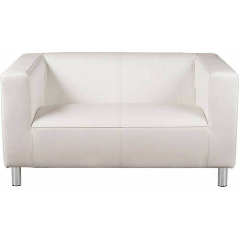 Two Seater Sofa - White