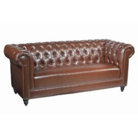 Three Seater Chesterfield - Brown