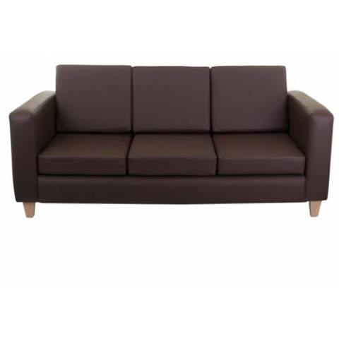 Three Seater Sofa - Brown