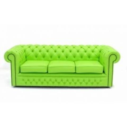 Three Seater Chesterfield - Lime Green