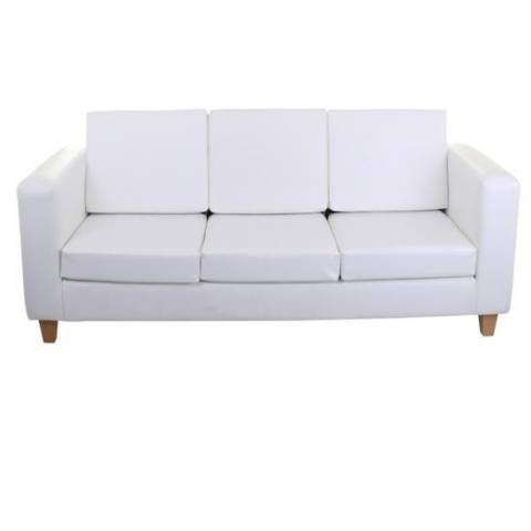 Three Seater Sofa - White