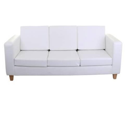 Three Seater Sofa - White