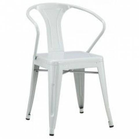 White Tolix Style Outdoor Chair