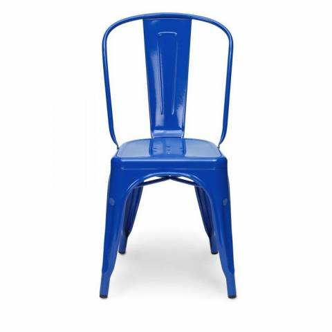 Tolix Blue Cafe Chair