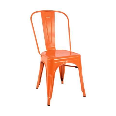 Tolix Orange Cafe Chair